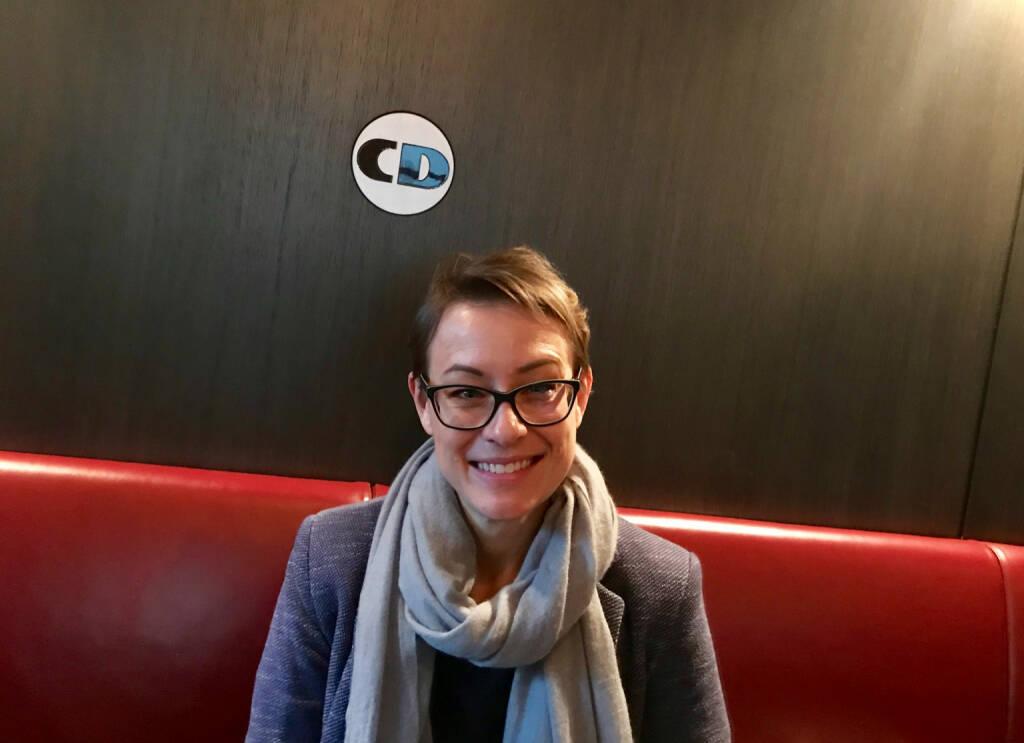 Mit Karin Steinbichler (Wienerberger) im Cafe Drechsler (30.01.2018)