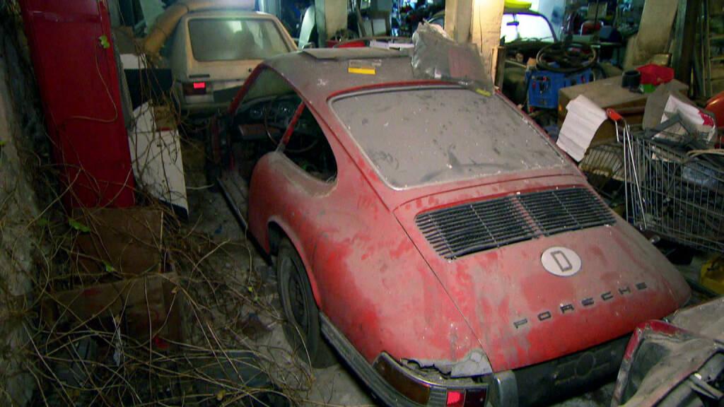 RTL II: GRIP - Das Motormagazin präsentiert den wohl wertvollsten Porsche der Republik, fast 30 Monate lang wurde der Porsche, den der RTL II-Trödeltrupp vor über zwei Jahren in einer Scheune in Brandenburg fand, in der Werkstatt des Porsche-Museums wiederaufgebaut. GRIP war exklusiv bei der Enthüllung des wohl wertvollsten Porsches der Republik dabei. Fotocredit:RTL II, © Aussendung (02.02.2018)