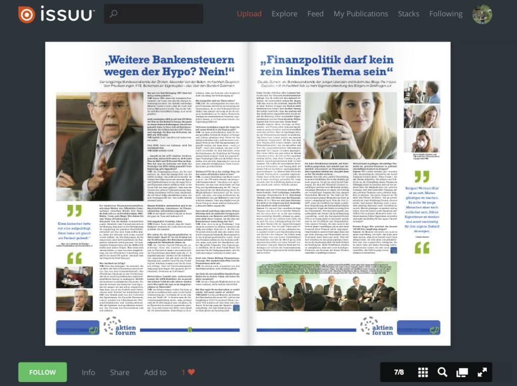 Seiten 6/7 : Interviews mit Alexander van der Bellen bzw. Claudia Gamon , nachzulesen unter http://www.christian-drastil.com/2013/06/01/van_der_bellen_mehr_bankenabgabe_wegen_der_hypo_nein bzw. http://www.christian-drastil.com/2013/06/02/gamondebatten_uber_finanzpolitik_nicht_nur_den_linken_jugendorganisationen_uberlassen , dazu der Hinweis zum FTS-Fach-PDF siehe http://www.christian-drastil.com/2013/06/02/fts_diese_stellungnahme_hier_als_pdf_soll_mit-ausloser_fur_das_deutsche_ruckrudern_sein (02.06.2013)