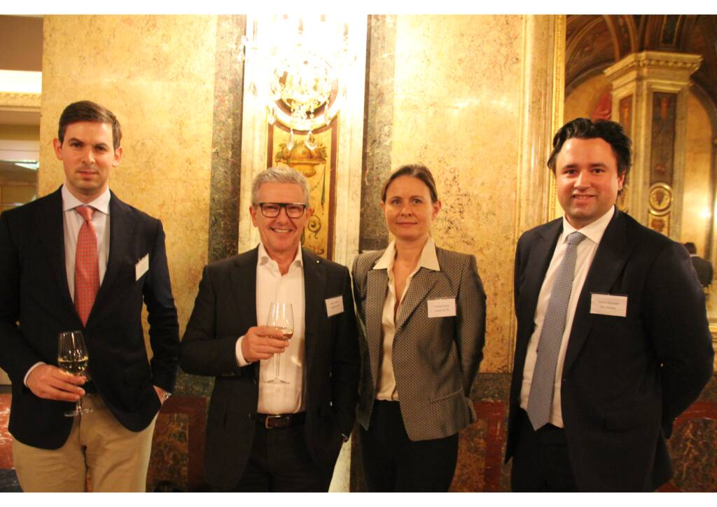 Urs Fähndrich, Panebo AG, Max Schaber&Claudia Erning, Datagroup, Patrick Brenske, M1 Kliniken; Foto: Family Office Day (04.02.2018)