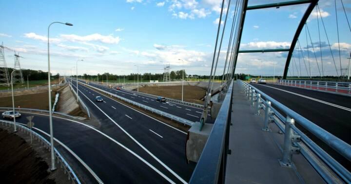 Von Porr gebaute Umfahrungsstraße der S7 bei Gdansk, Polen © PORR