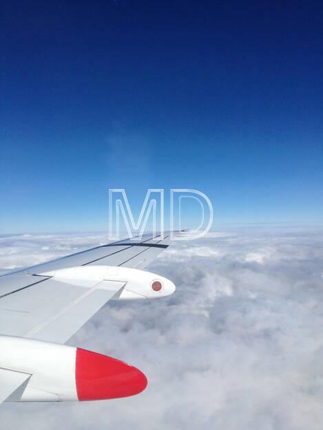 Flugzeug Tragfläche, © Martina Draper (02.06.2013)