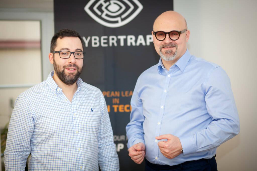 Jack Wagner, CEO CyberTrap GmbH, Avi Kravitz, CTO und Gründer CyberTrap GmbH, Foto: Michaela Mejta (08.02.2018)