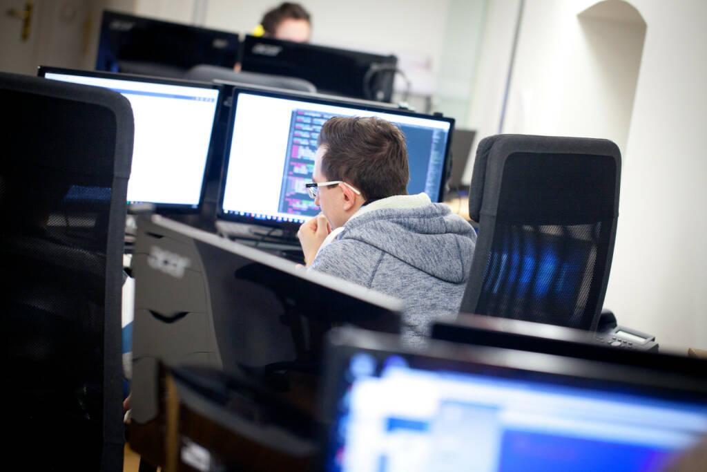 Computer, Rechner, IT-Security, Sicherheit, Arbeitsplatz, Team Member CyberTrap GmbH, Foto: Michaela Mejta (08.02.2018)
