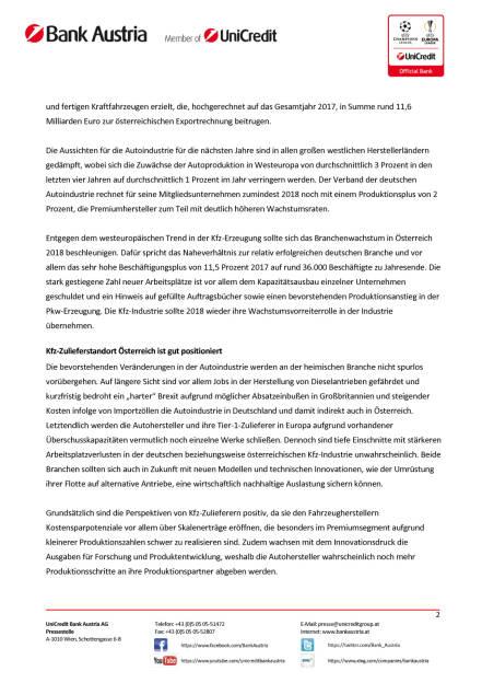 Kfz-Industrie beschleunigte im zweiten Halbjahr 2017 zu Produktionsplus, Seite 2/3, komplettes Dokument unter http://boerse-social.com/static/uploads/file_2419_kfz-industrie_beschleunigte_im_zweiten_halbjahr_2017_zu_produktionsplus.pdf (09.02.2018)