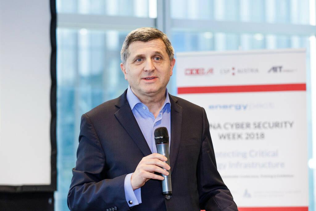 Internationale Cyber Security Szene trifft sich in Wien, Alexandre Dimitrijevic, Präsident der Energypact Foundation bei der Vienna Cyber Security Week 2018 - Fotocredit:AIT / Arman Rastegar, © Aussender (12.02.2018)