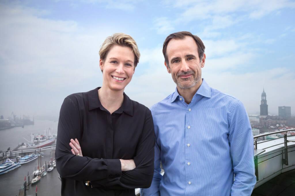 Next Logistics Accelerator: Next Logistics Accelerator ist startklar, Die Führungsspritze des Next Logistics Accelerator in Hamburg: Managing Partner Miriam Kröger und Philipp Schröder, Fotocredit:NLA (15.02.2018)