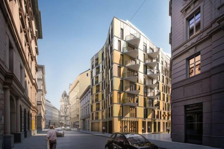 """Das auf die Finanzierung von Immobilienprojekten spezialisierte Crowdinvestingunternehmen Rendity startet Anfang März sein bisher größtes Einzelprojekt: Das """"N°10"""" (No10) in der Renngasse in der Inneren Stadt wird mit einem Betrag von 1,5 Mio. Euro von der Crowd teilfinanziert werden. Es ist damit nicht nur das größte Rendity-Projekt, sondern auch das bisher größte österreichische Immobilien-Crowdinvestmentprojekt überhaupt und auch das erste mit dem eine Immobilie in der Wiener Innenstadt finanziert wird. Ab sofort können Anleger auf der Webseite www.rendity.com Investments voranmelden. Credit: 2016 ZOOMVP_JPI Renngasse"""