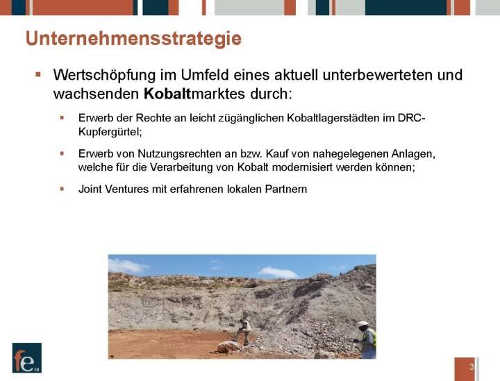 Präsentation FE Limited - Unternehmensstrategie