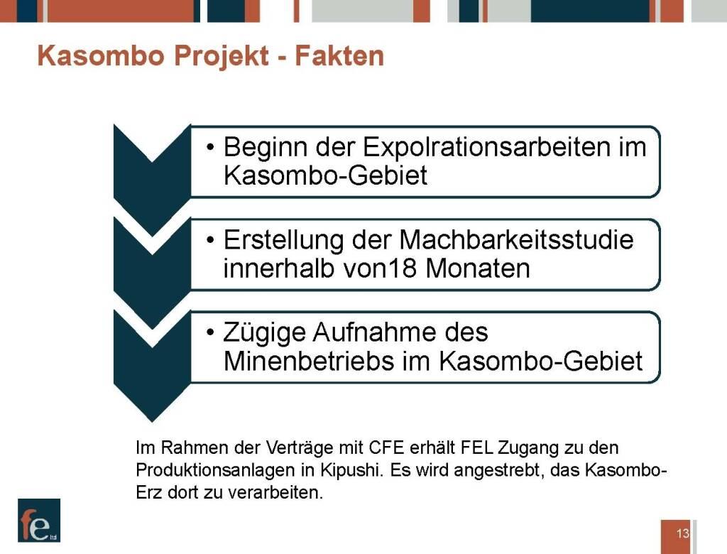 Präsentation FE Limited - Kasombo Projekt Fakten (27.02.2018)