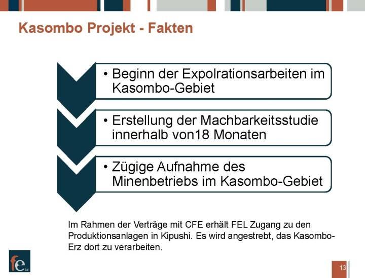 Präsentation FE Limited - Kasombo Projekt Fakten