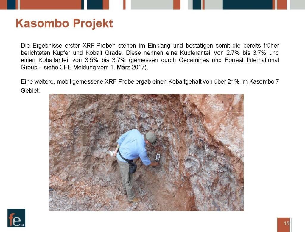 Präsentation FE Limited - Kasombo Projekt (27.02.2018)