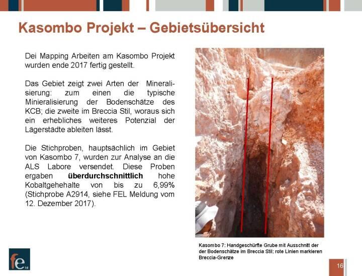 Präsentation FE Limited - Kasombo Projekt, Gebietsübersicht