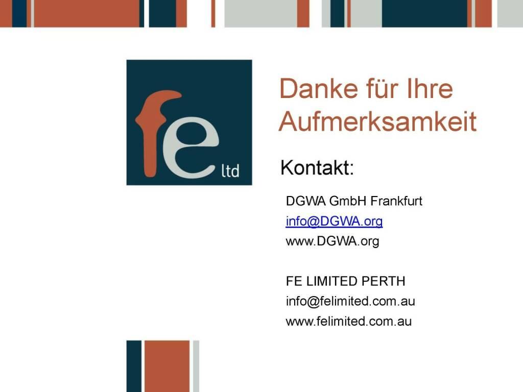 Präsentation FE Limited - Danke (27.02.2018)