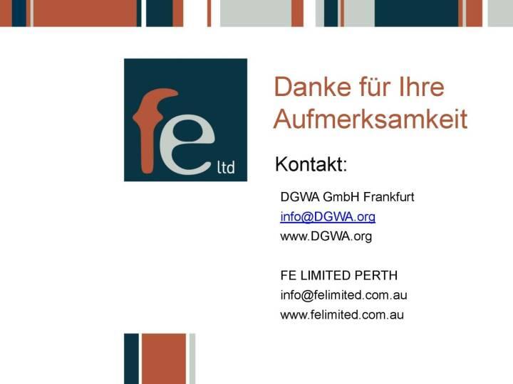 Präsentation FE Limited - Danke