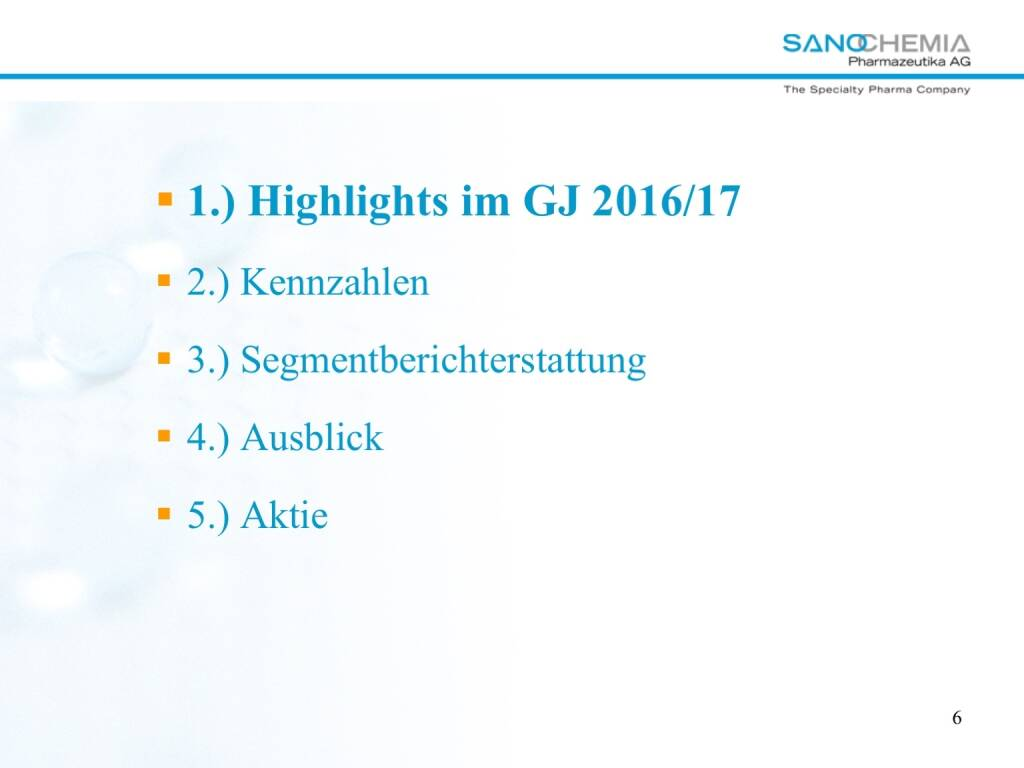 Präsentation Sanochemia - Highlights (27.02.2018)