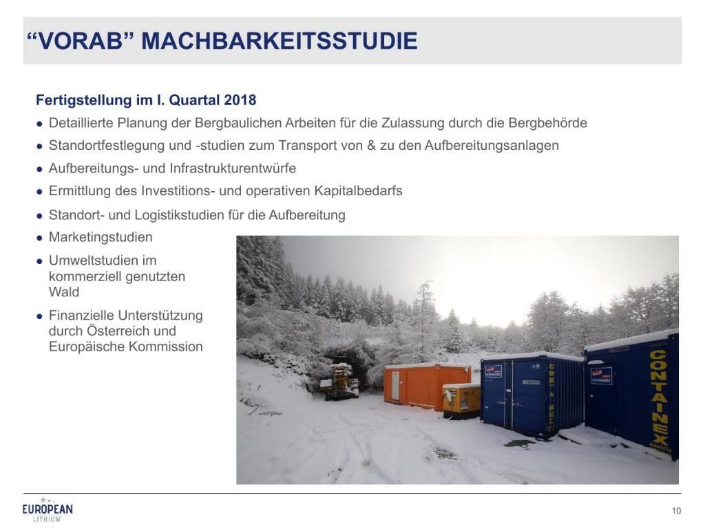 Präsentation European Lithium - Machbarkeitsstudie (27.02.2018)