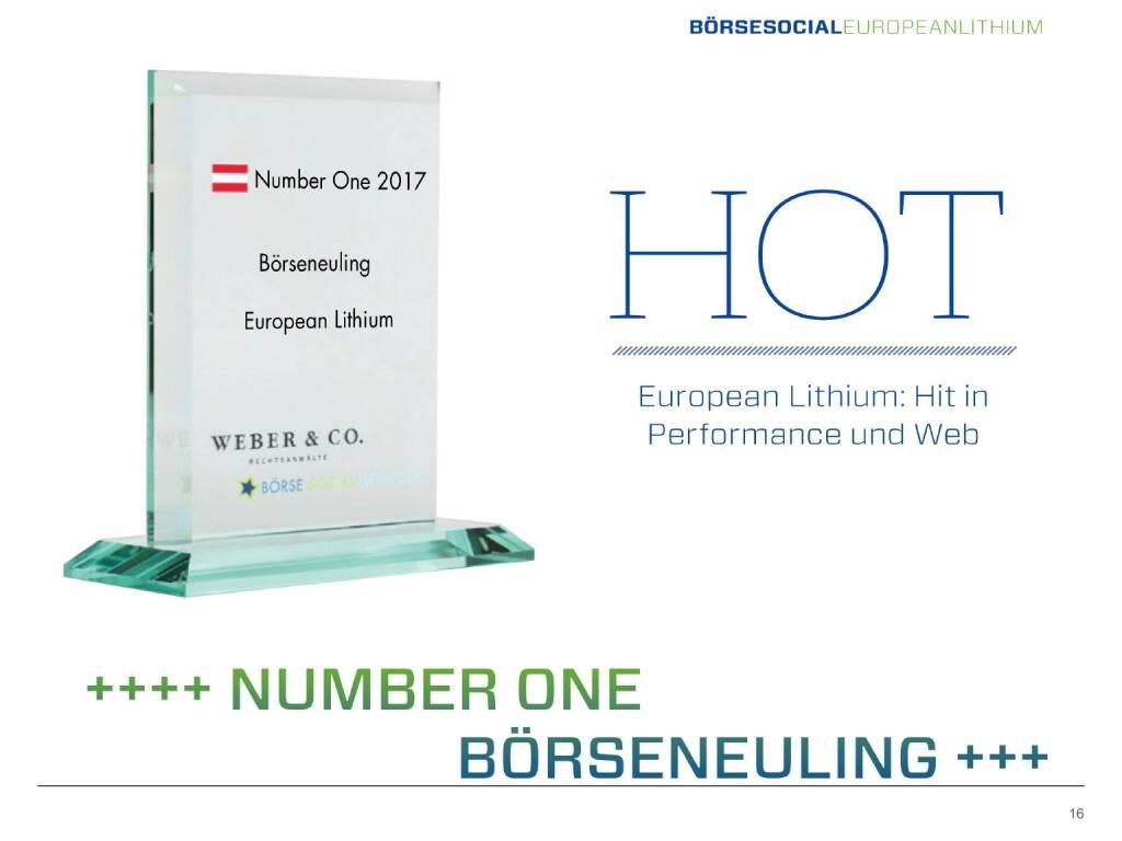 Präsentation European Lithium - Number one Börseneuling (27.02.2018)