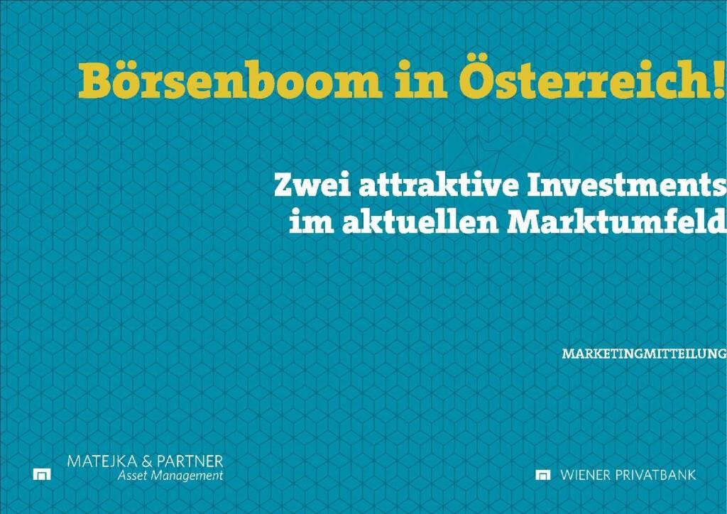 Präsentation Wiener Privatbank - Börsenboom in Österreich (27.02.2018)