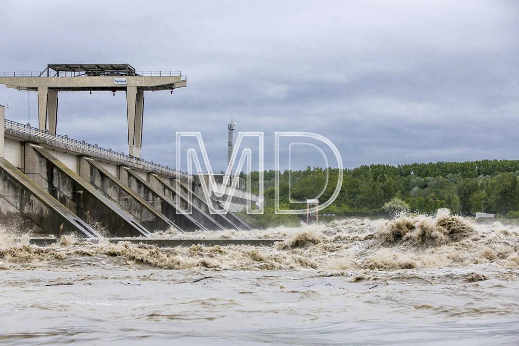 Donau, Hochwasser, Verbund Kraftwerk Greifenstein (03.06.2013)