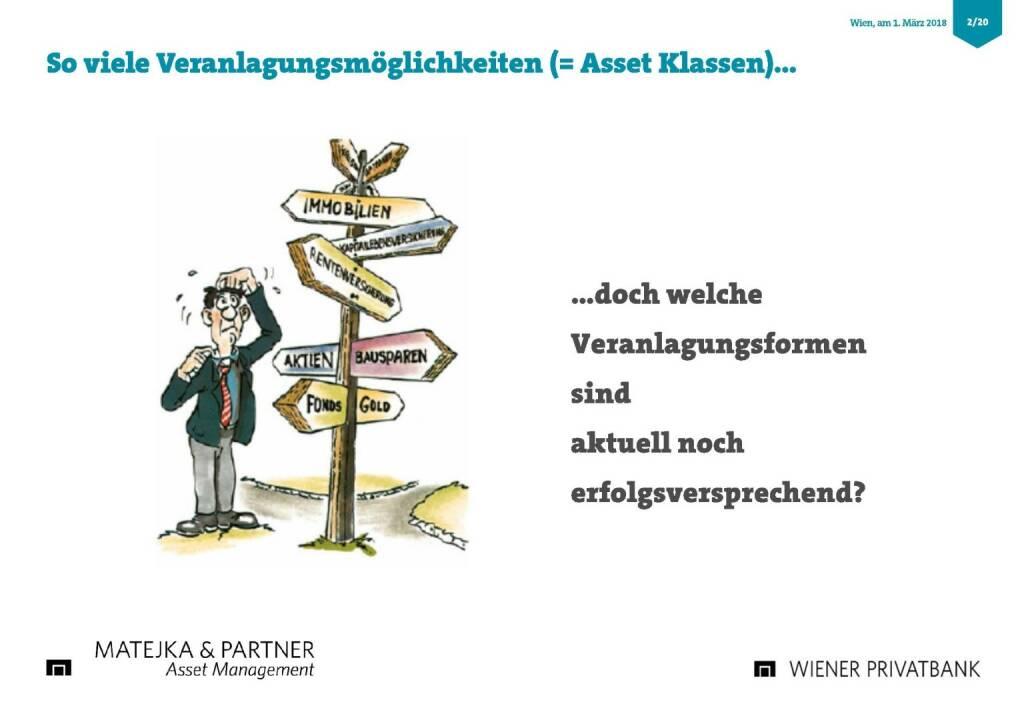 Präsentation Wiener Privatbank - Veranlagungsmöglichkeiten (27.02.2018)