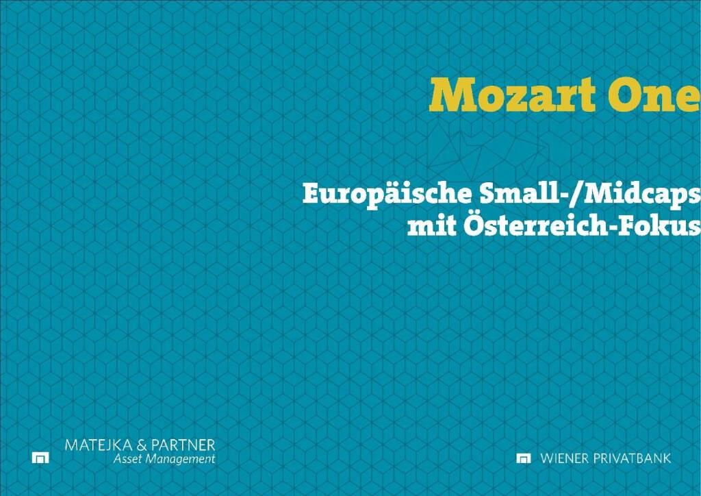 Präsentation Wiener Privatbank - Mozart One (27.02.2018)