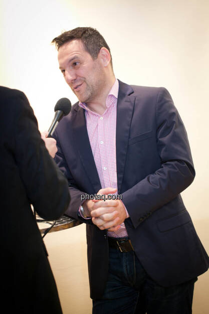 Börse Social Network-Roadshow, Börsenradio-Chef Peter Heinrich interviewt European Lithium-Director Stefan Müller, Credit: Michaela Mejta (01.03.2018)