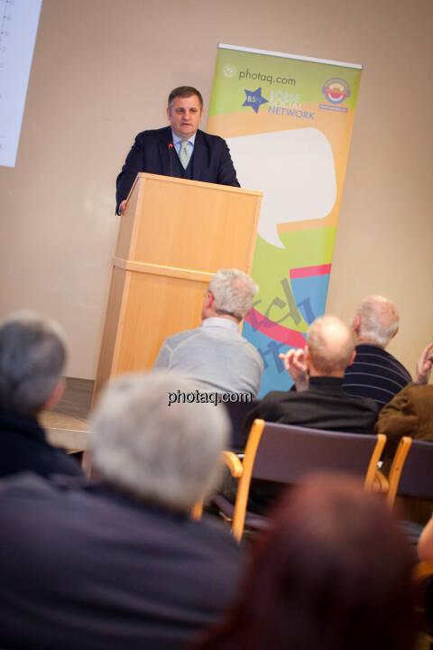 Börse Social Network-Roadshow, Wiener Privatbank-Vorstand Eduard Berger, Credit: Michaela Mejta