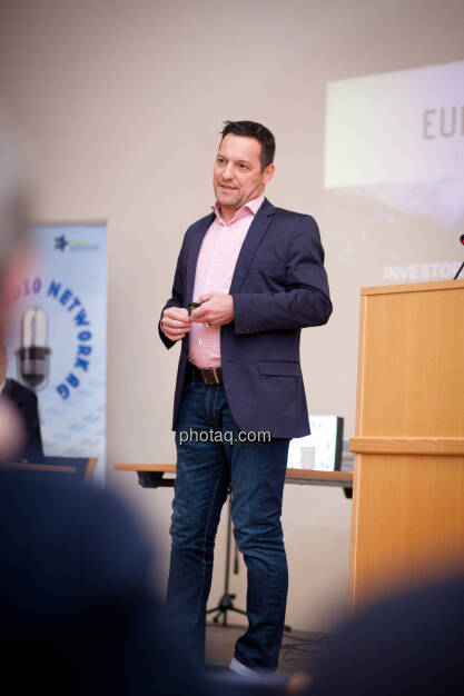 Börse Social Network-Roadshow, European Lithium-Director Stefan Müller, Credit: Michaela Mejta (01.03.2018)