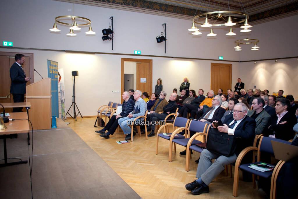 Börse Social Network-Roadshow, Sanochemia-Vorstand Klaus Gerdes, Credit: Michaela Mejta (01.03.2018)