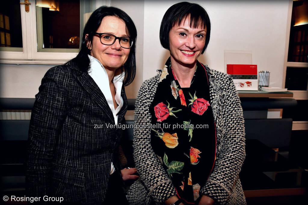 Gerda Königstorfer (IR Managerin Rosenbauer) und Edith Franc (Wiener Börse), © (C) Rosinger Group (03.03.2018)