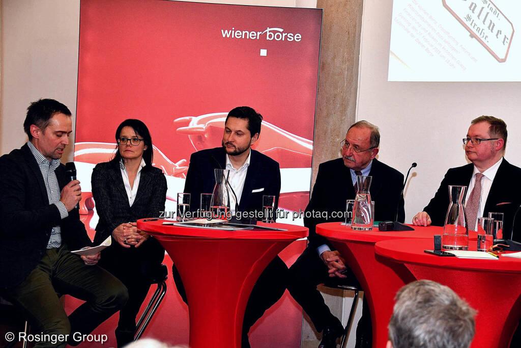Albert Geiger (Alphazirkel), Gerda Königstorfer (Rosenbauer), Damian Izdebski (Techbold), Leo Schirnhofer (Polytechnik), Gregor Rosinger (Rosinger Group), © (C) Rosinger Group (03.03.2018)