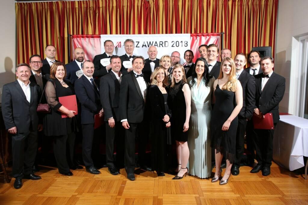 WirschaftsOskar 2018 - Gruppenfoto alle Gewinner, Nominierten etc., Credit: JimLee (05.03.2018)