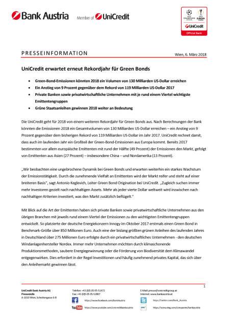 UniCredit erwartet erneut Rekordjahr für Green Bonds, Seite 1/2, komplettes Dokument unter http://boerse-social.com/static/uploads/file_2420_unicredit_erwartet_erneut_rekordjahr_fur_green_bonds.pdf (06.03.2018)