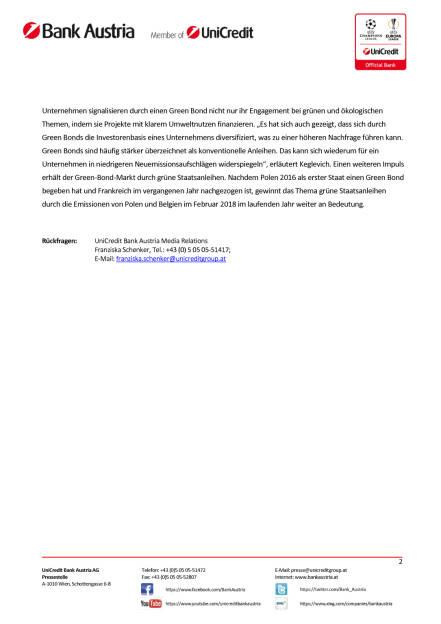 UniCredit erwartet erneut Rekordjahr für Green Bonds, Seite 2/2, komplettes Dokument unter http://boerse-social.com/static/uploads/file_2420_unicredit_erwartet_erneut_rekordjahr_fur_green_bonds.pdf (06.03.2018)