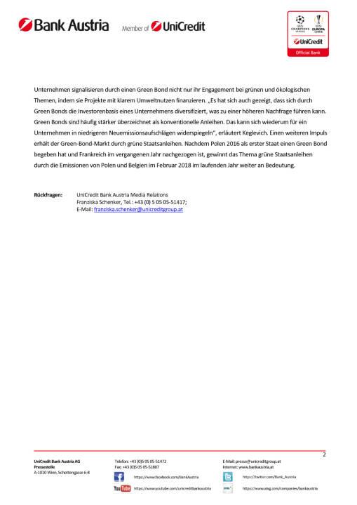 UniCredit erwartet erneut Rekordjahr für Green Bonds, Seite 2/2, komplettes Dokument unter http://boerse-social.com/static/uploads/file_2420_unicredit_erwartet_erneut_rekordjahr_fur_green_bonds.pdf