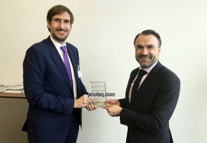 Christoph Moser (Weber & Co.), Florian Greger (OMV) - Special Award Governance - OMV