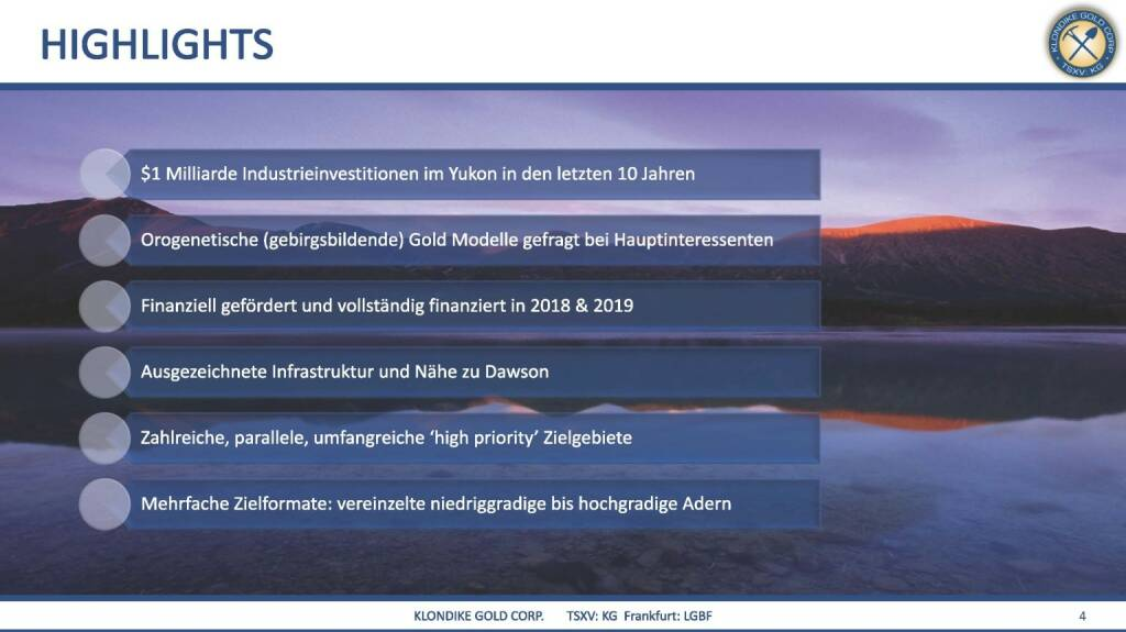 Präsentation Klondike - Highlights  (07.03.2018)