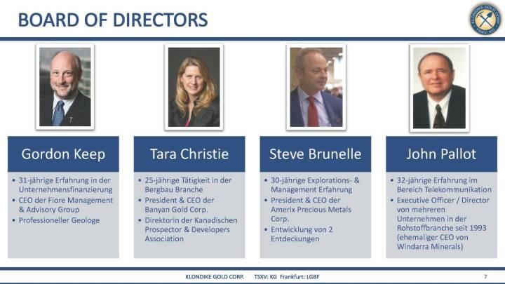 Präsentation Klondike - Board of Directors