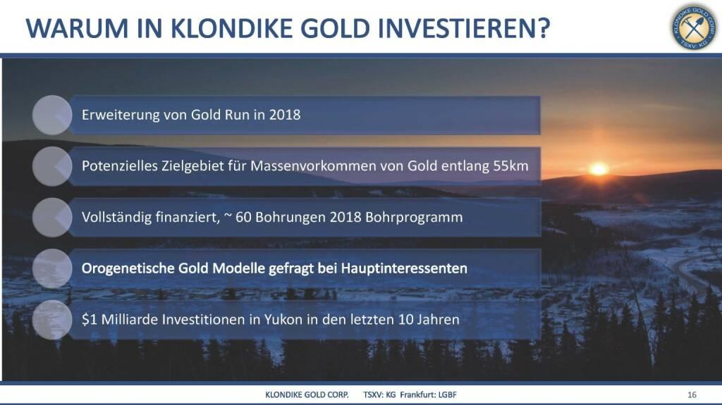 Präsentation Klondike - warum investieren? (07.03.2018)