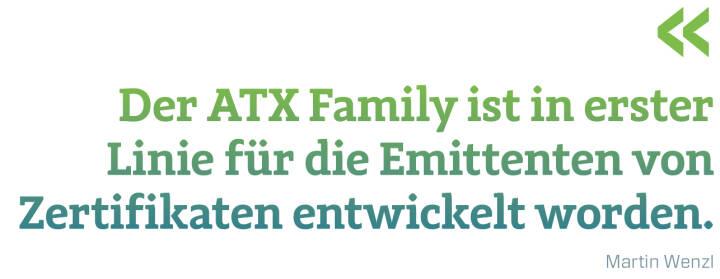 Der ATX Family ist in erster Linie für die Emittenten von Zertifikaten entwickelt worden.  Martin Wenzl