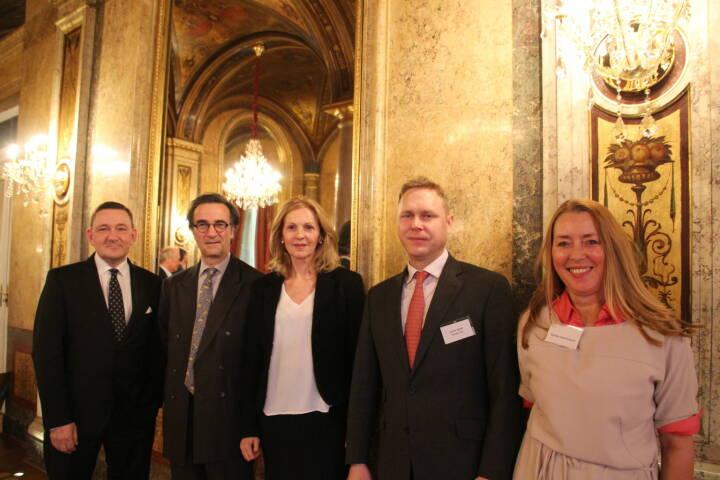 Manfred Wiltschnigg (GalCap), Investor Karl Arco, Sabine Duchaczek (FOD), André Speth (Noratis), Unternehmerin Daniela Graf-Kunauer, Foto: beigestellt