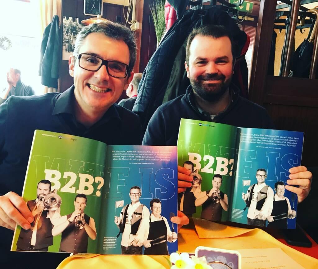 Mit den Growth Ninjas Stefan Kainz, Stefan Greunz (12.03.2018)