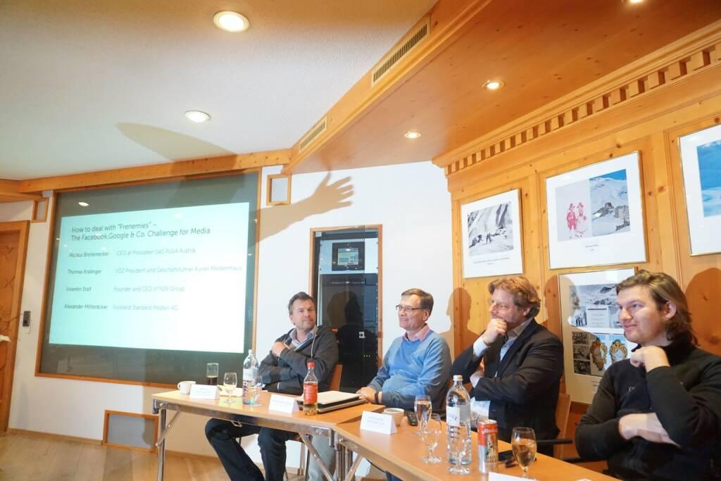 Diskussionsrunde mit Puls 4-Geschäftsführer Markus Breitenecker ... © The Near Future Summit (14.03.2018)