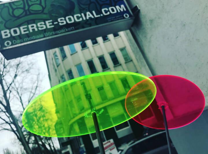 Börse Social Network grün rot