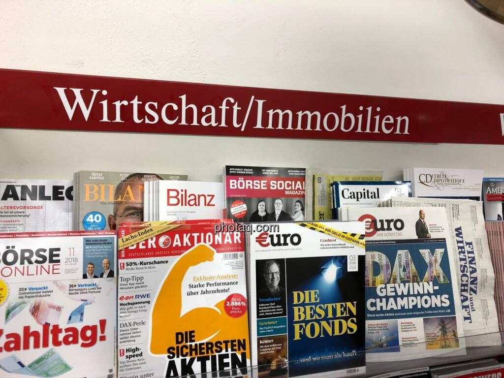 Börse Social Magazine, Morawa, Kiosk, Wirtschaft, Immobilien, © photaq.com (26.03.2018)