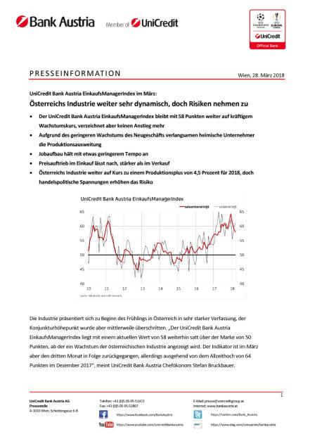 Österreichs Industrie weiter sehr dynamisch, doch Risiken nehmen zu, Seite 1/4, komplettes Dokument unter http://boerse-social.com/static/uploads/file_2421_osterreichs_industrie_weiter_sehr_dynamisch_doch_risiken_nehmen_zu.pdf (28.03.2018)