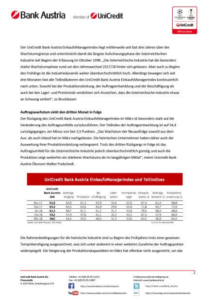 Österreichs Industrie weiter sehr dynamisch, doch Risiken nehmen zu, Seite 2/4, komplettes Dokument unter http://boerse-social.com/static/uploads/file_2421_osterreichs_industrie_weiter_sehr_dynamisch_doch_risiken_nehmen_zu.pdf (28.03.2018)
