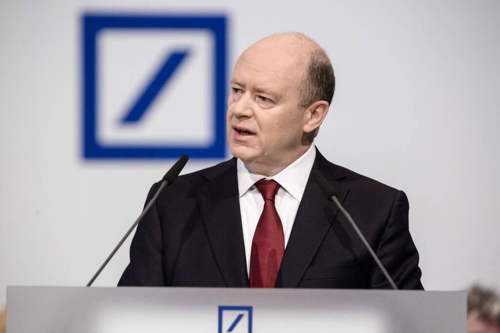 John Cryan, Hauptversammlung der Deutsche Bank, Credit: Mario Andreya, © Aussender (09.04.2018)