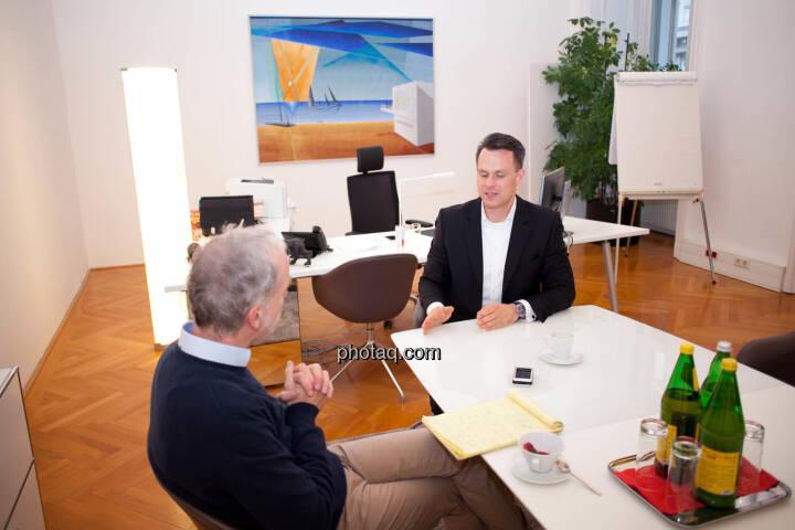 Christian Drastil (BSN), Christoph Boschan (Wiener Börse)